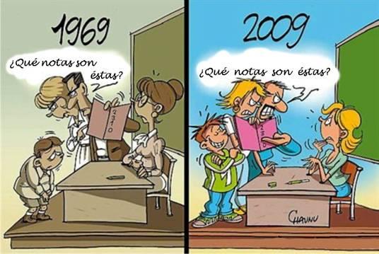 40 años de educación en dos viñetas
