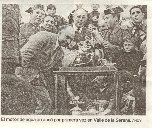 Arturo en la presentación del Valle de la Serena