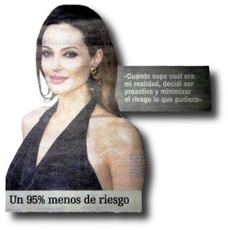 Angelina Jolie se amputa lospechos