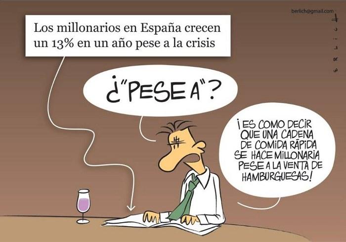 "Humor: Millonarios ""pese a laCrisis"""
